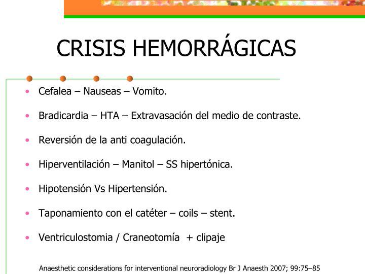 CRISIS HEMORRÁGICAS