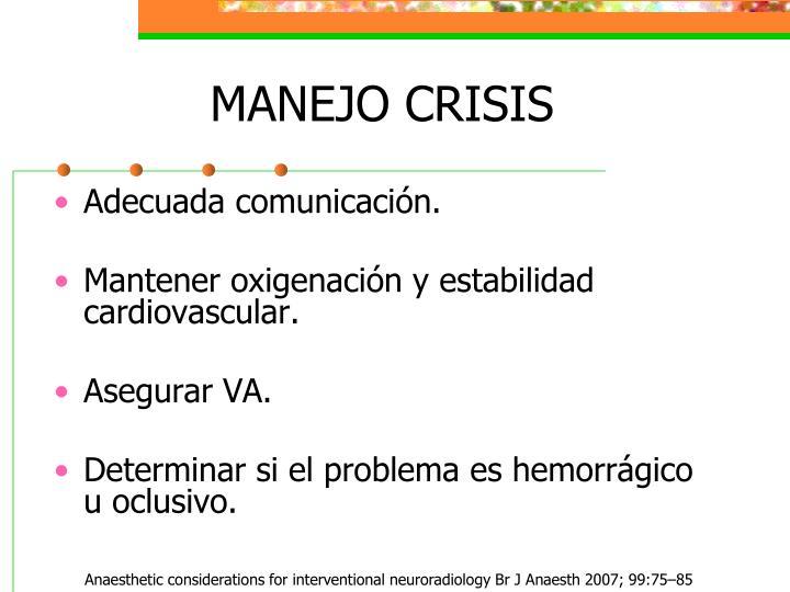 MANEJO CRISIS