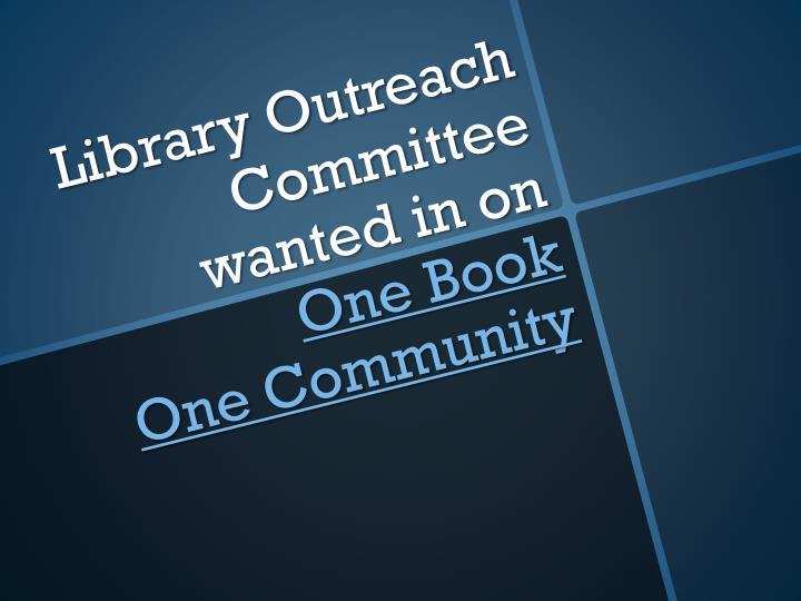 Library Outreach