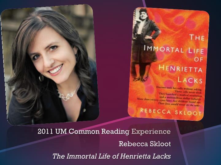 2011 UM Common Reading Experience