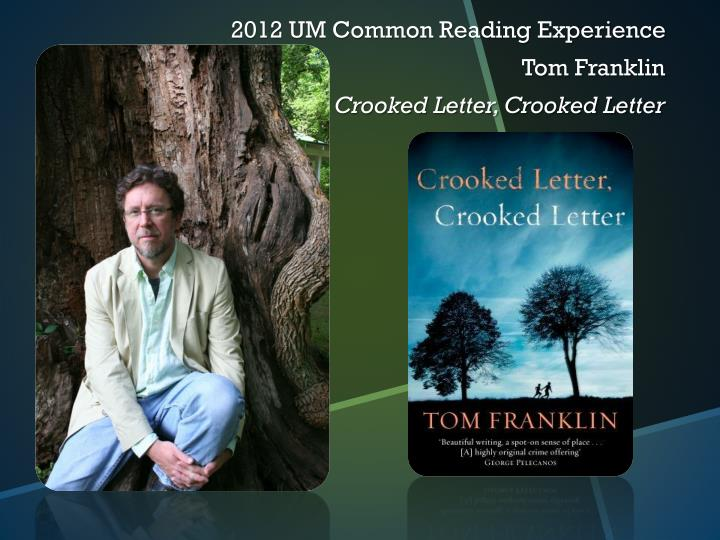 2012 UM Common Reading Experience