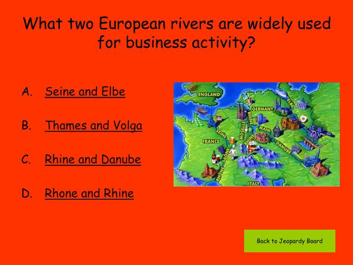 What two European rivers are widely used for business activity?