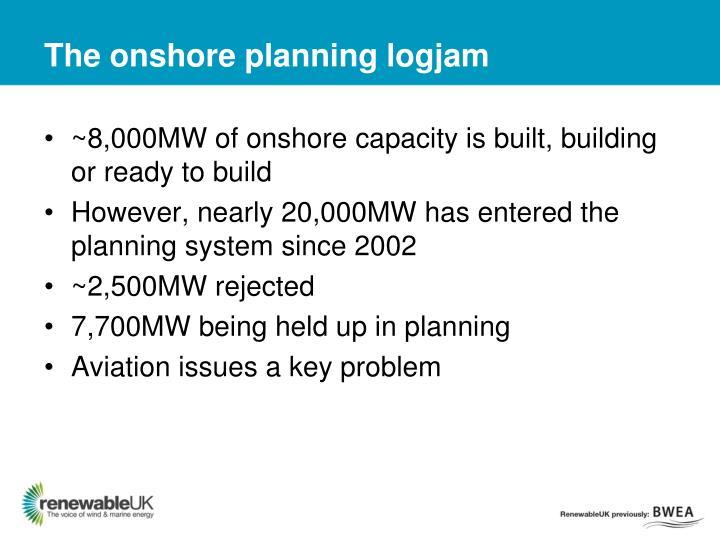 The onshore planning logjam