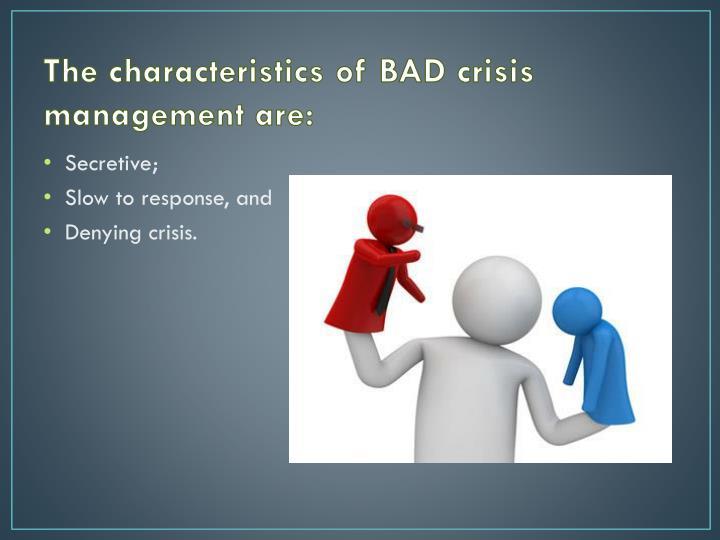 The characteristics of