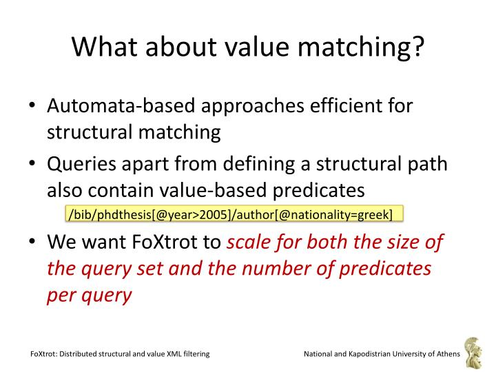 What about value matching?