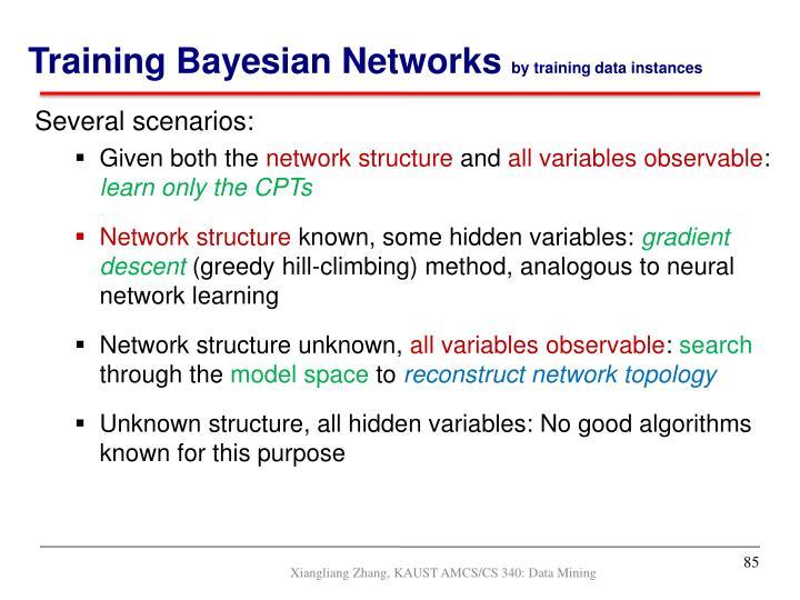 Training Bayesian Networks