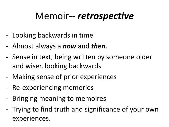 Memoir--