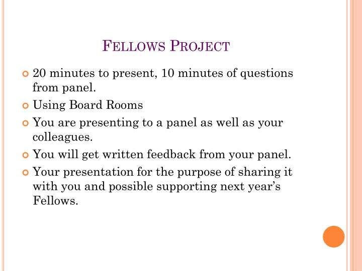 Fellows Project