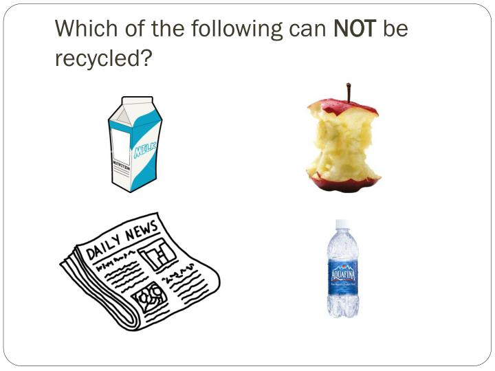 Which of the following can not be recycled