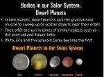 bodies in our solar system dwarf planets