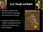 early thought and models1