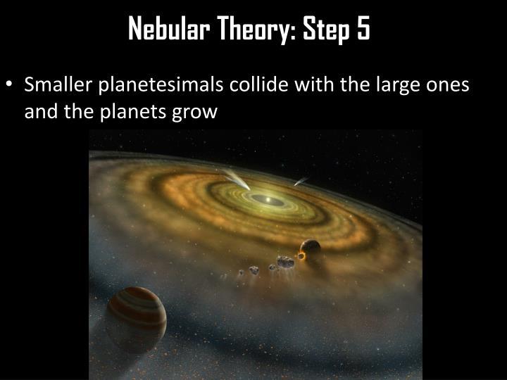 Nebular Theory: Step 5