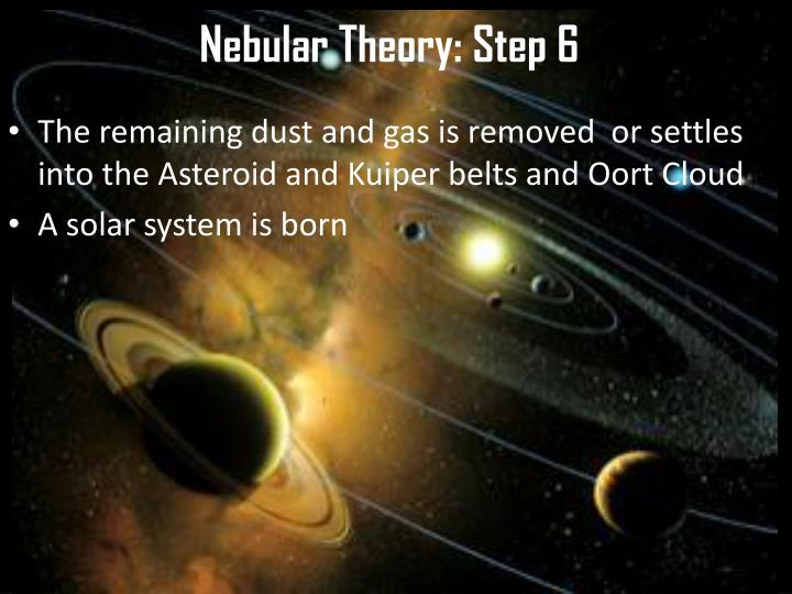 Nebular Theory: Step 6