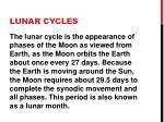lunar cycles