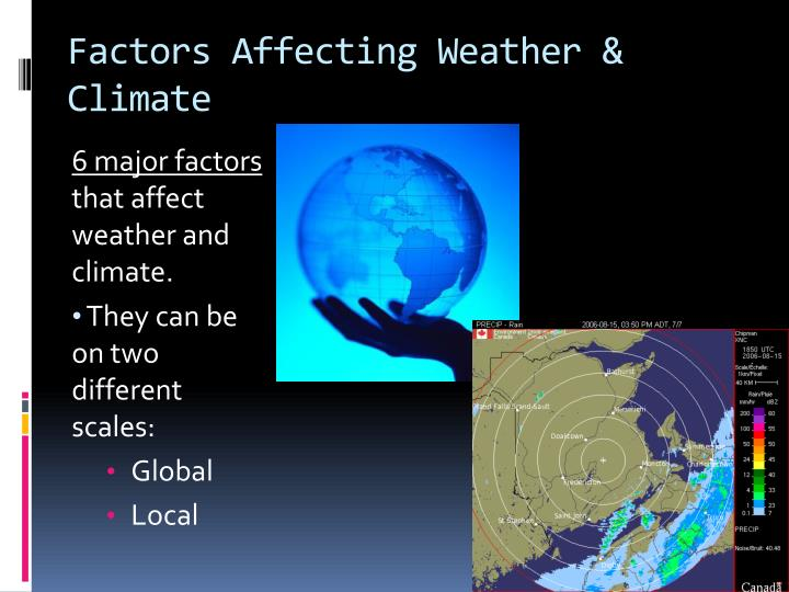 Factors Affecting Weather & Climate