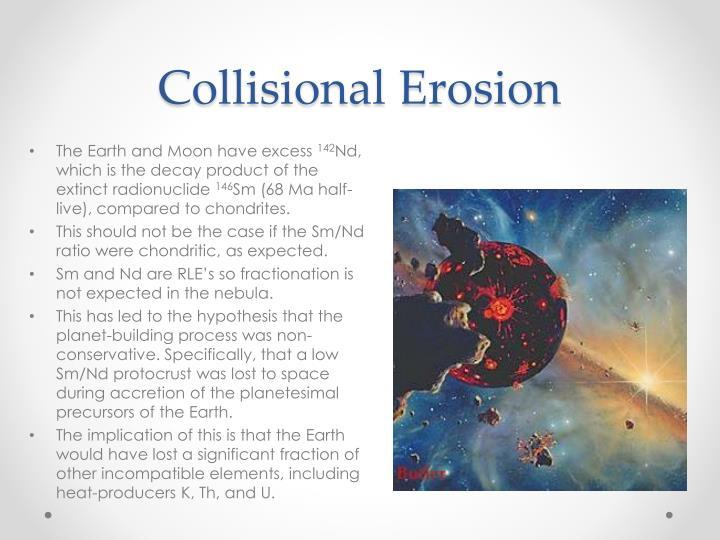Collisional Erosion