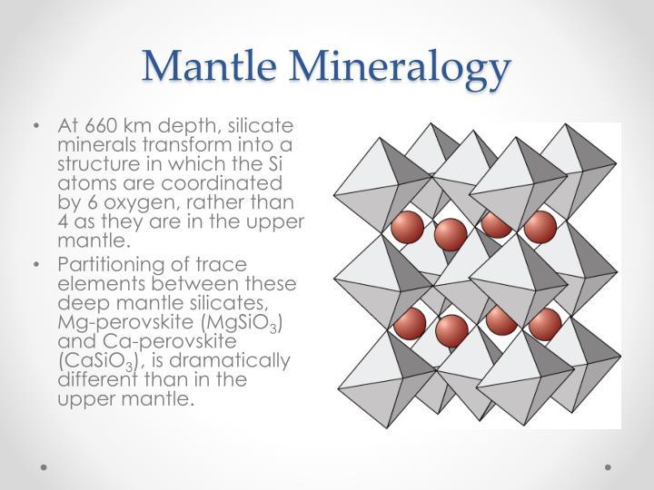 Mantle Mineralogy