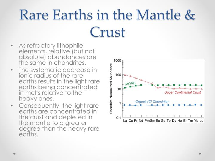 Rare Earths in the Mantle & Crust