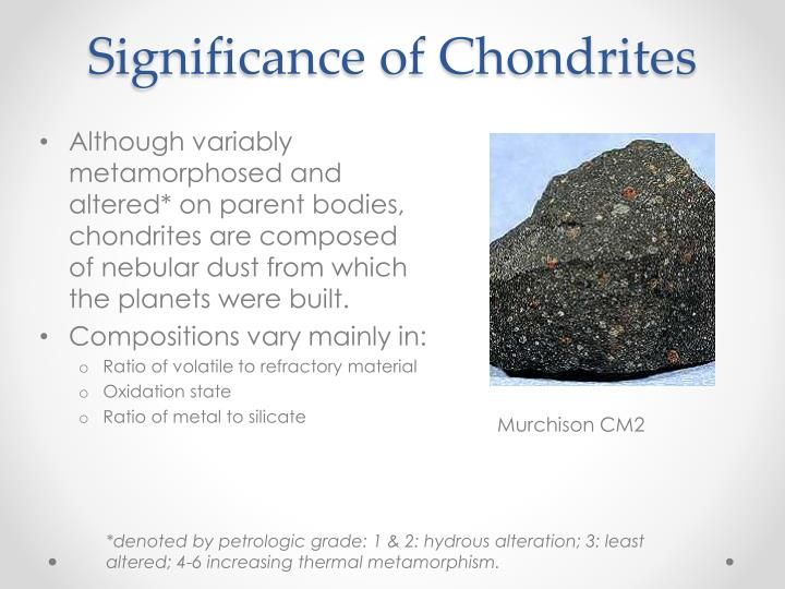 Significance of Chondrites