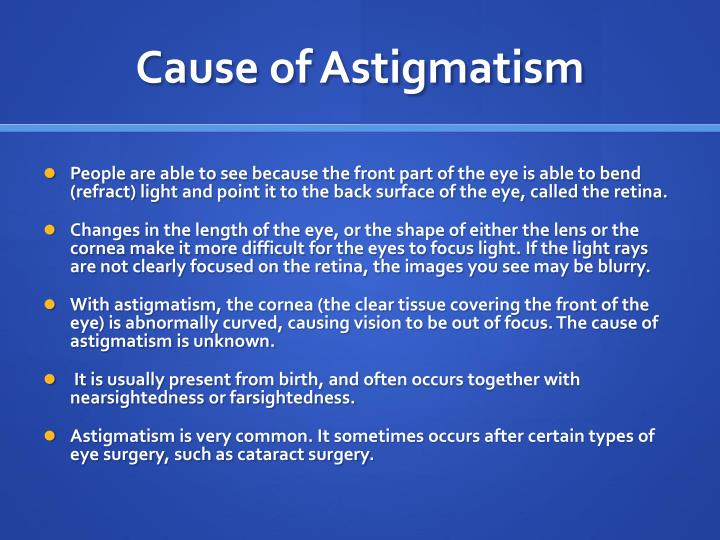 Cause of Astigmatism