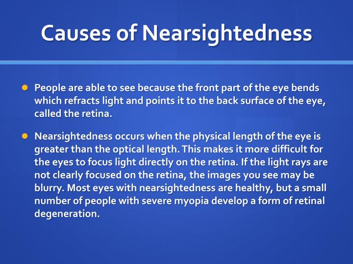 Causes of Nearsightedness