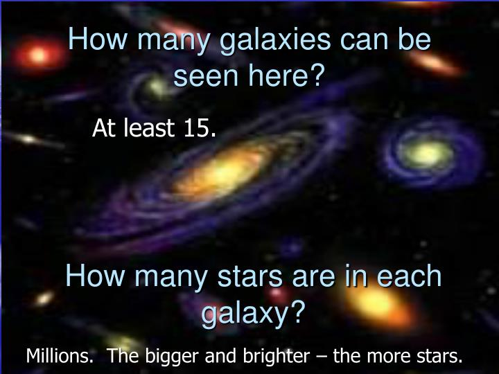 How many galaxies can be seen here?