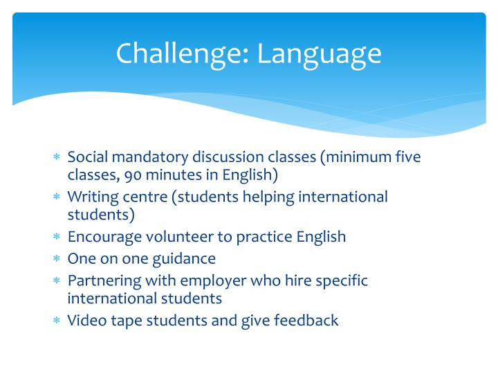Challenge: Language