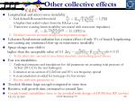 other collective effects