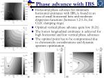 phase advance with ibs