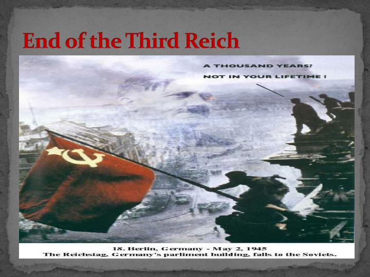 End of the Third Reich