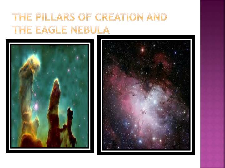 The pillars of creation and the eagle nebula