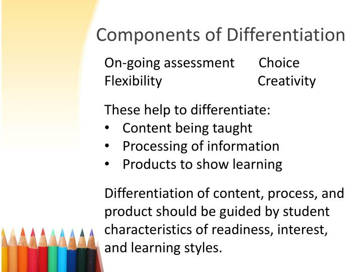 Components of Differentiation