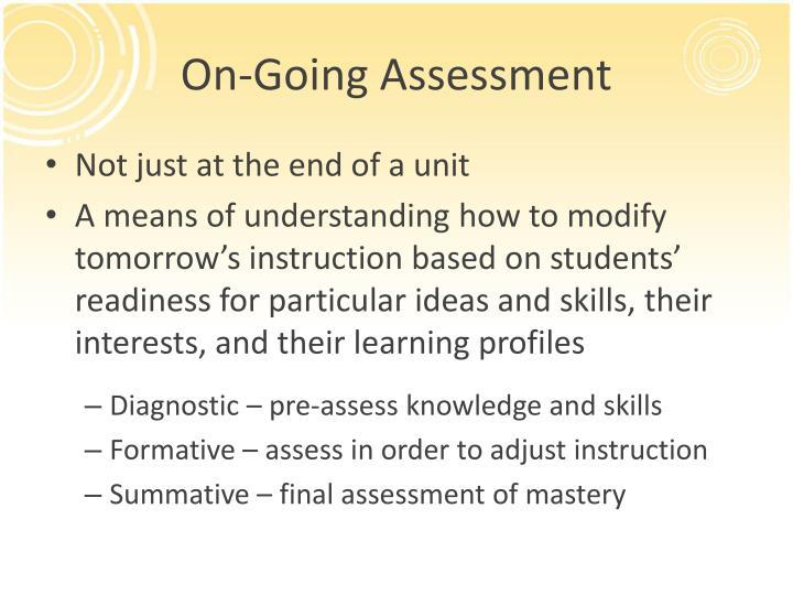 On-Going Assessment