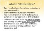 what is differentiation2