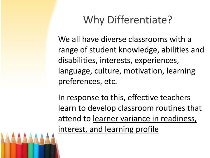 Why Differentiate?
