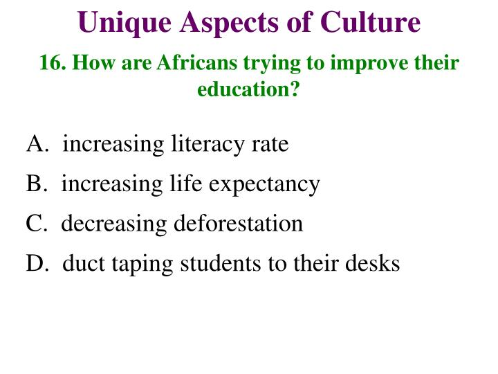16. How are Africans trying to improve their education?
