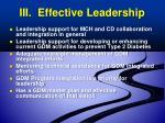 iii effective leadership