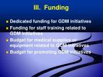 iii funding
