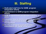 iii staffing