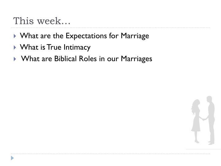 This week…