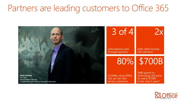 Partners are leading customers to Office 365