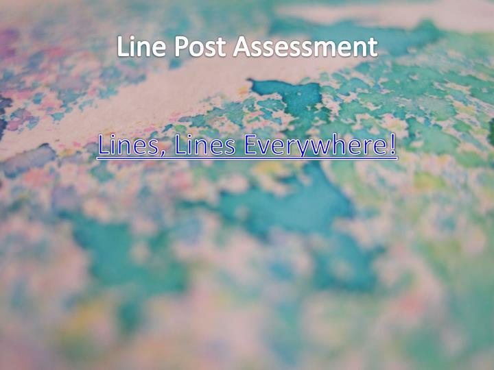 Line Post Assessment