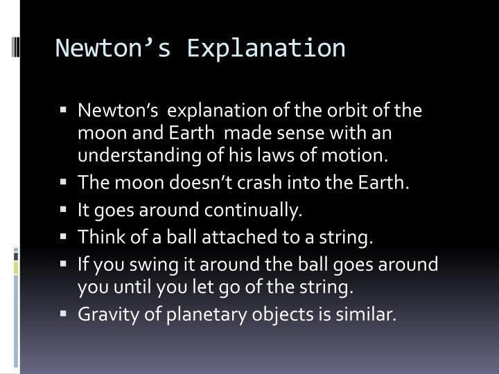 Newton's Explanation