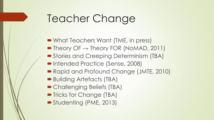 Teacher Change