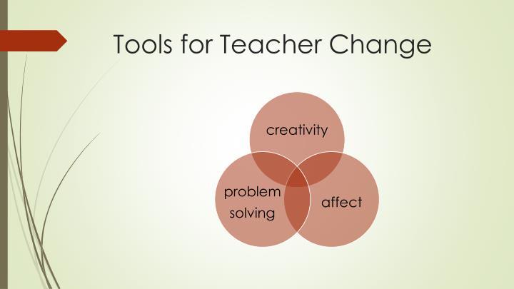Tools for Teacher Change