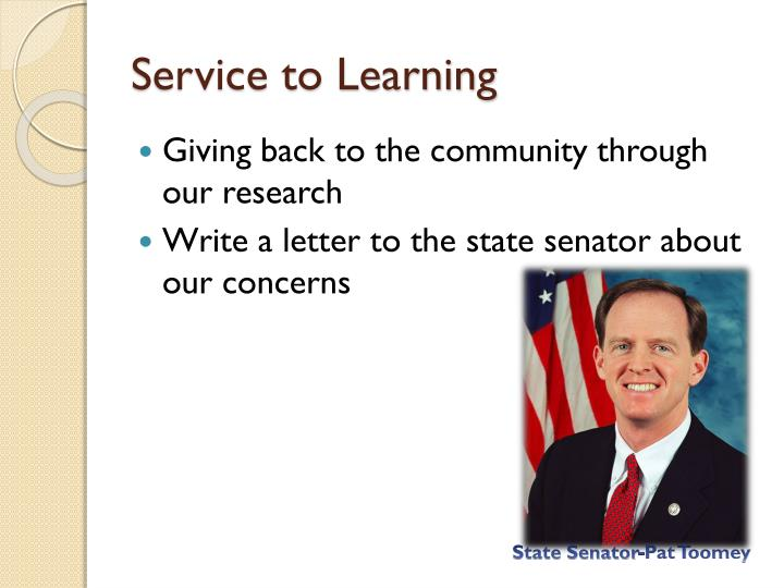 Service to Learning
