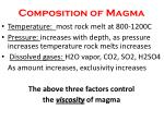 composition of magma