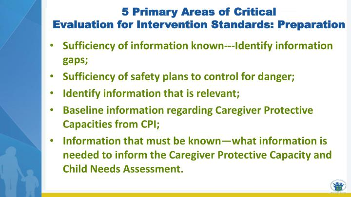 5 Primary Areas of Critical