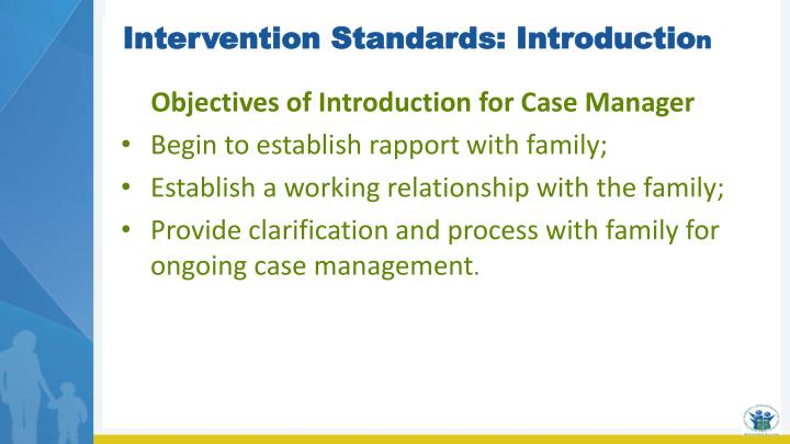 Intervention Standards: Introductio