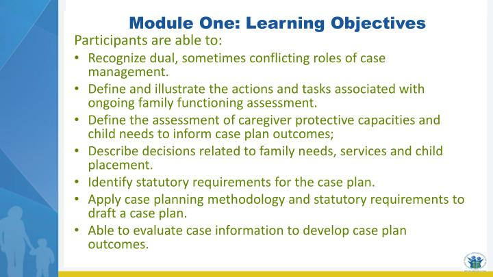 Module One: Learning Objectives